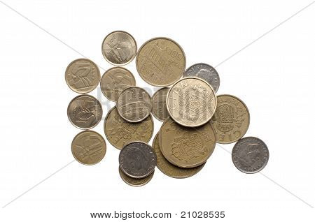 Pile Of Old Spanish Coins