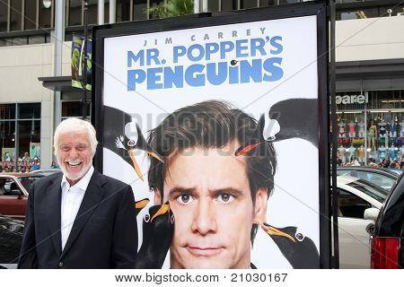 "LOS ANGELES - JUN 12:  Dick Van Dyke arriving at the ""Mr. Popper's Penguins"" Premiere at Grauman's Chinese Theater on June 12, 2011 in Los Angeles, CA"