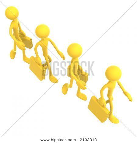 Crowd Of Businessmen