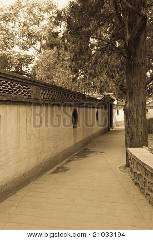 The Wall Of The Chinese-style Gardens