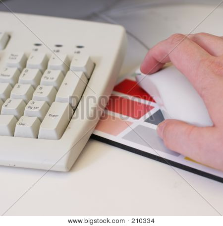 Keyboard, Hand And Mouse