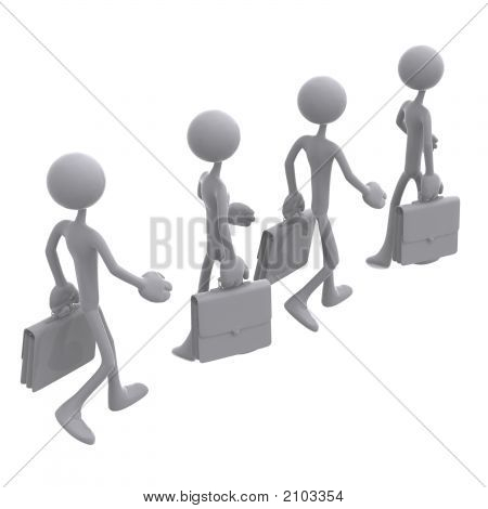 Crowd Of Businessmen