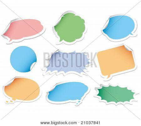 comic bubbles sticker