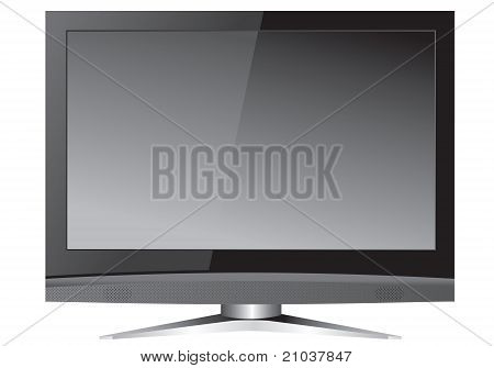 Modern wide-screen tv vector