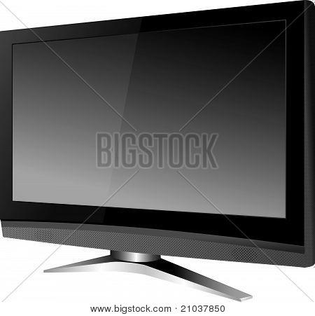 Modern wide-screen tv vector