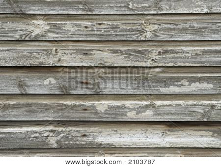 Detail Of Weathered Wooden Building
