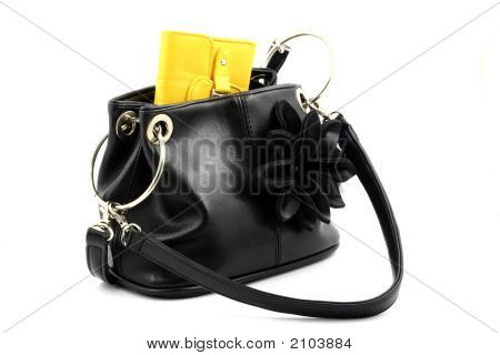 Yellow Wallet In Bag