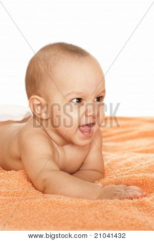 Baby On A Towel