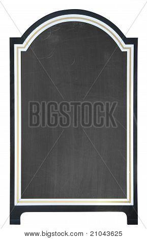 Blank menu board, isolated
