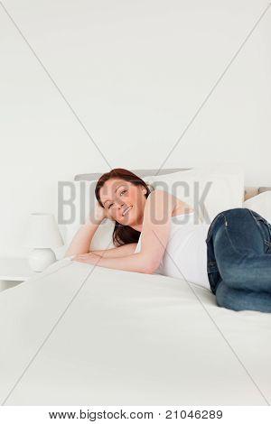 Beautiful Woman Posing While Relaxing