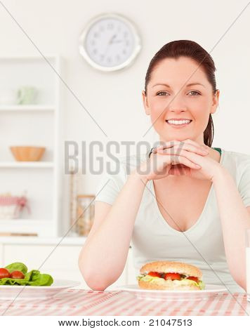 Young Woman Having Lunch
