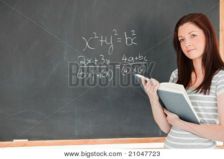 Gorgeous Student Solving An Equation