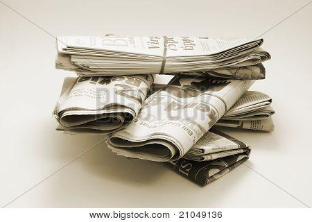 Pile of Newspaper Bundles