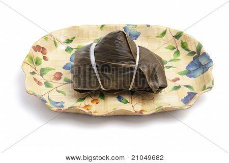 Bola de masa de arroz pegajoso