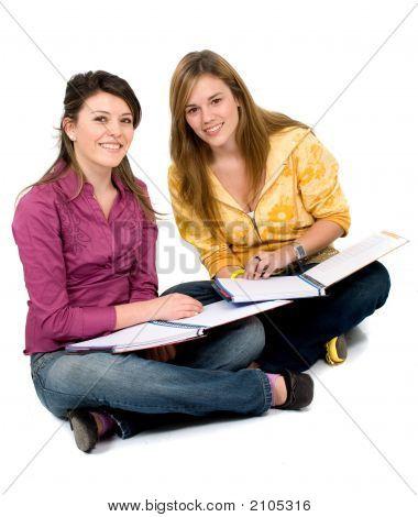 schöne weibliche Studenten