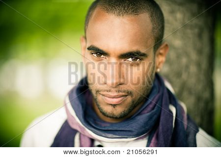 black man outside