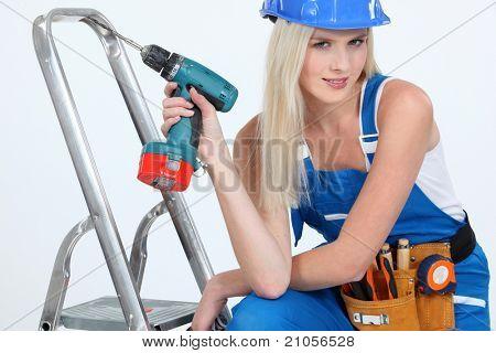 bimbo with drill