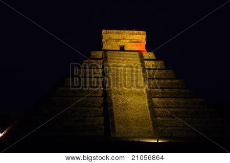 Mayan Pyramid In Chitchen Itza