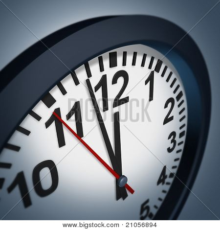 Deadline Symbol With Wall Clock