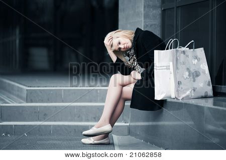 Tired shopper