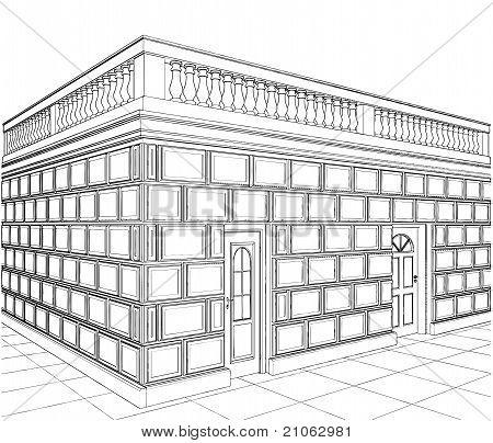Garaje terraza ecléctico edificios