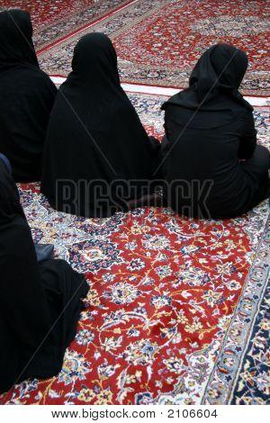 Veiled Women In Mosque