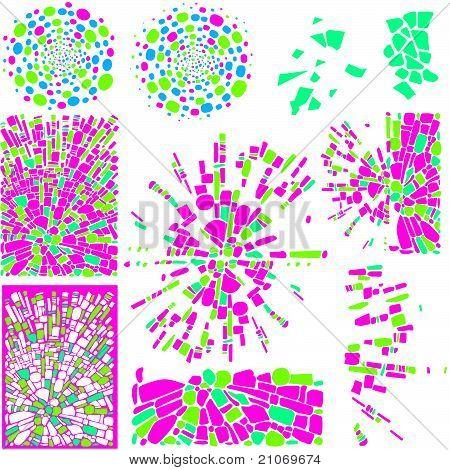 elementos de design e planos de fundo do mosaico