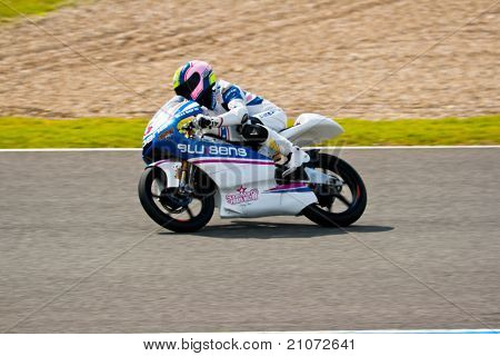 Sergio Gadea Pilot Of  125Cc In The Motogp