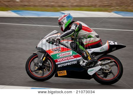 Johnny Rosell Pilot Of 125Cc In The Cev