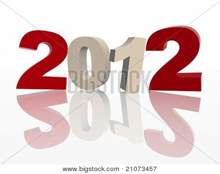 3D 2012 In Red And Grey