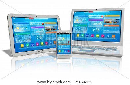 Mobiliteit en cloud computing concept