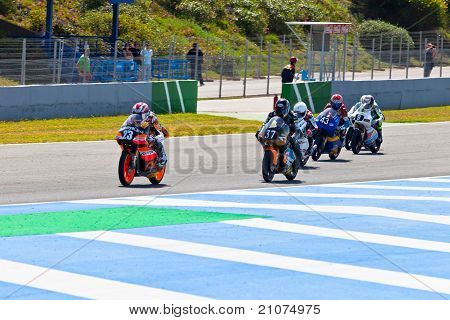 Begin Of The Race Of 125Cc  Of The Cev Championship