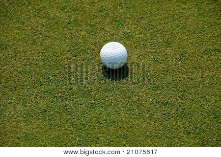 Golf Ball On Fairway Green