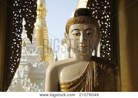 Buddha at Shwedagon Pagoda, Yangon, Myanmar