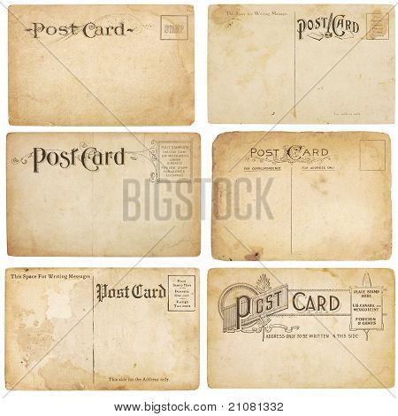 Six Vintage Post Cards