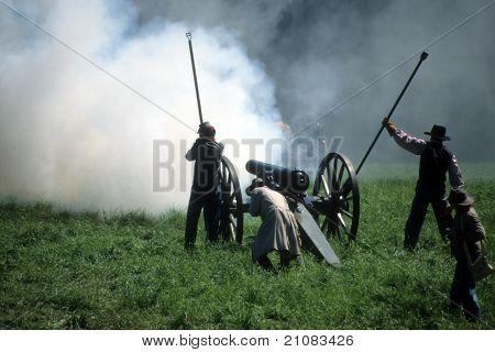 Artillery Fires Their Gun