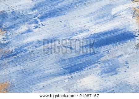 Blue White Wood Texture