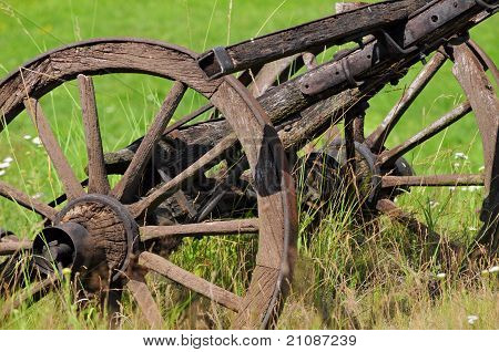 Old horse cart on ranch