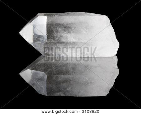 Ponto de cristal de quartzo claro