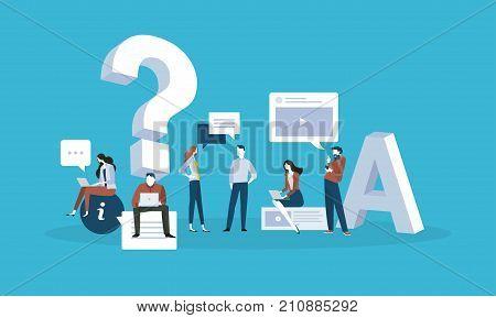 FAQ Flat design