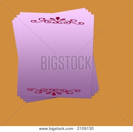 Blank Invitation Card