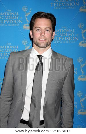 LOS ANGELES - JUN 17:  Michael Muhney arrives at the 38th Annual Daytime Creative Arts & Entertainment Emmy Awards at Westin Bonaventure Hotel on June 17, 2011 in Los Angeles, CA