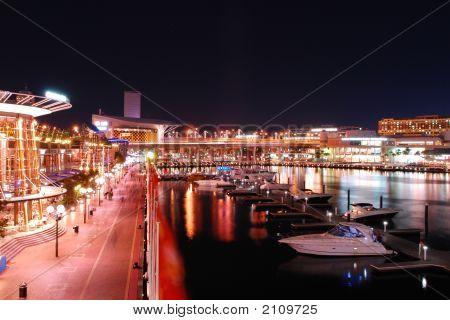 Sydney Darling Harbour At Night, Australia