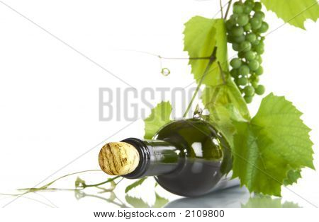 Grape And Bottle