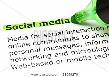 'social Media' Highlighted In Green