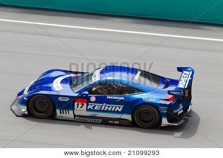 Keihin Real Racing team at the Malaysian SuperGT race