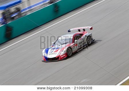 Team Weider Honda Racing at the Malaysian SuperGT race