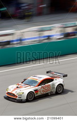 Portrait view of team A Speed at the Malaysian SuperGT race