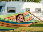 picture of motorhome  - Summer vacation in camping  - JPG