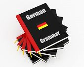picture of grammar  - stack of german grammar isolated on white  - JPG